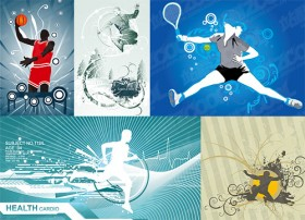 5 sports illustrator vector material