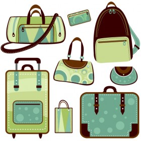 A variety of bags Vector
