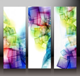 Abstract banner01 vector material
