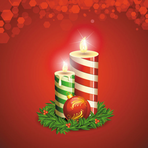 Beautiful Christmas background 02 vector material