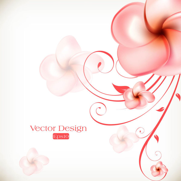 Beautiful flowers background 01 vector material