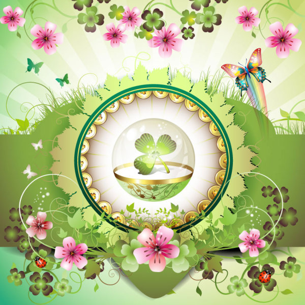 Beautiful flowers background 03 vector material