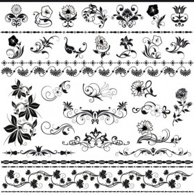 Beautiful lace pattern 03   vector material