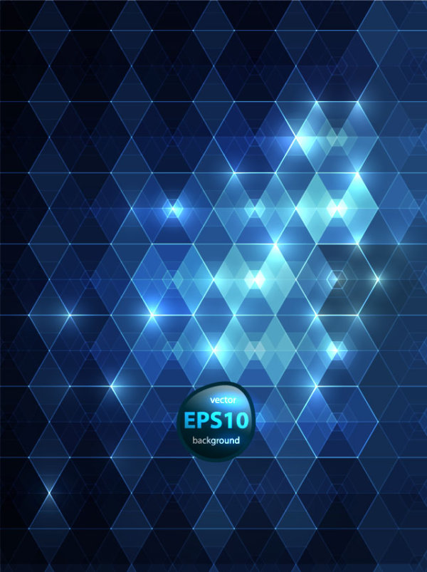 Blue abstract background 03 vector material