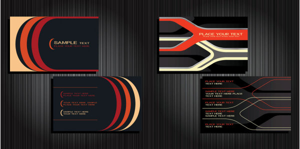 4 Designer Business Card Background Vector Material