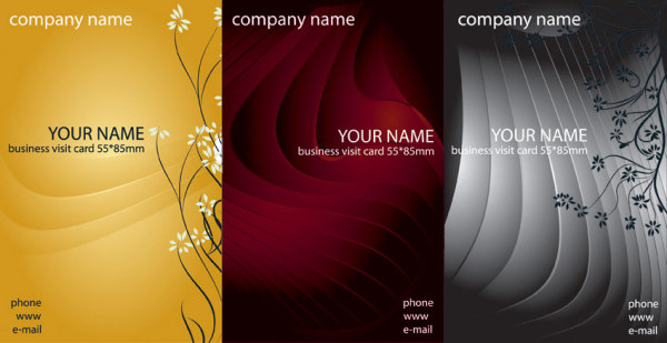 Business card template vector material