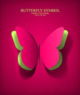 Butterfly paper cut 01 vector material