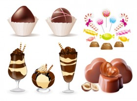 Chocolate candy vector material