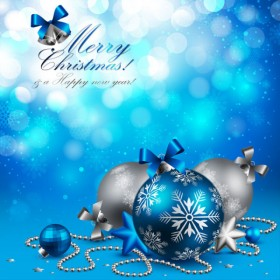 Christmas beautiful background 01 vector material