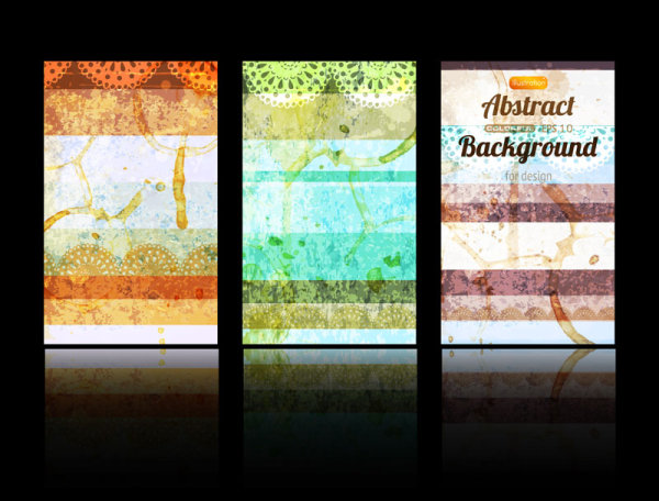 Classic card background 02 vector material