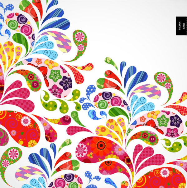 Colorful pattern background 02 Vector