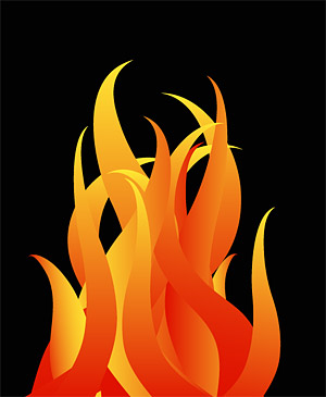 Cool fire pattern vector material