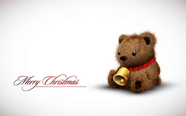 Cute toy bear Vector