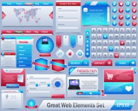Delicate web elements   vector material