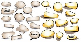 Dialogue bubble vector material