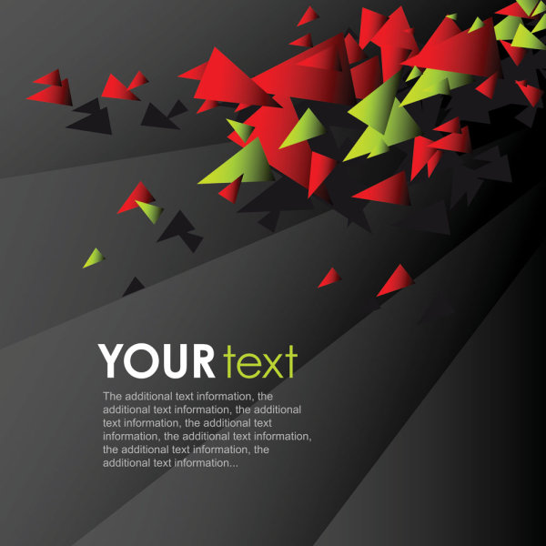 Dynamic colorful background 02 vector material
