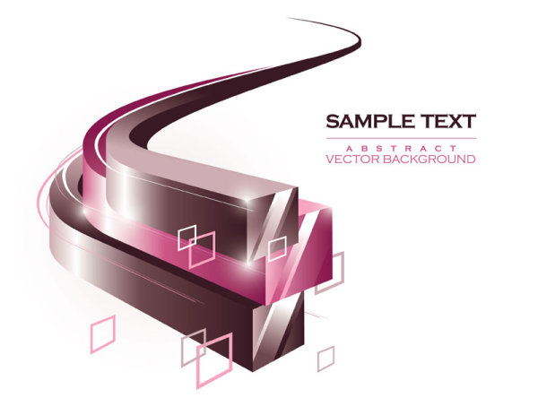 Dynamic flow line stereo box background Vector 01 Vector