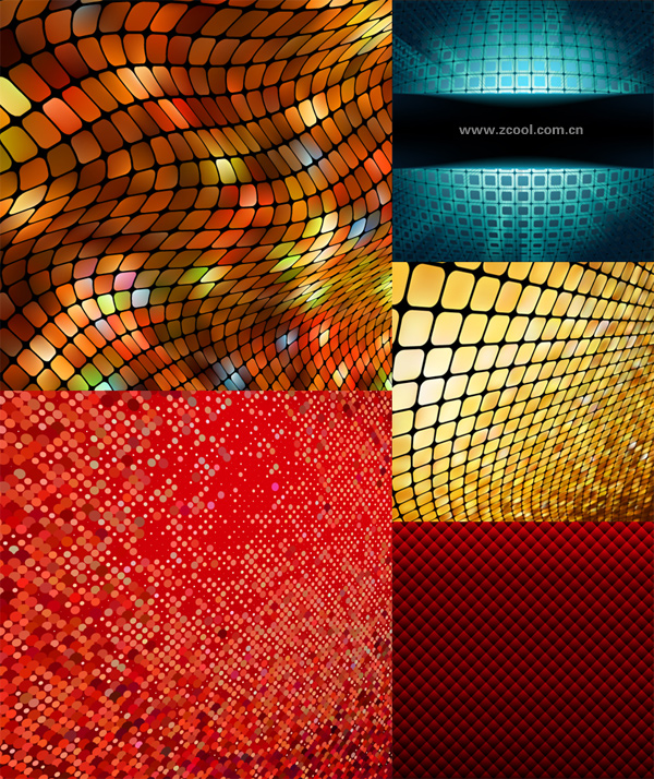 Dynamic mosaic background vector material