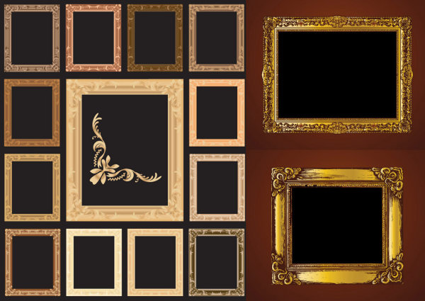 European ornate picture frame vector material