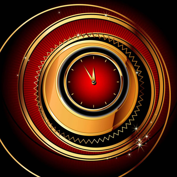 Exquisite watches creative background 01 vector material