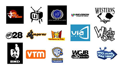 Featured foreign media vector LOGO material  6 (end)