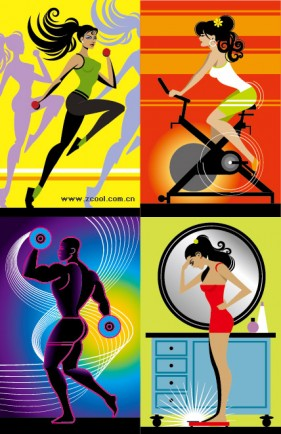 Fitness series illustrator vector material