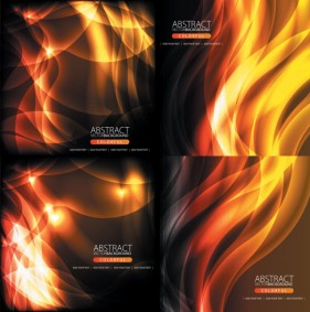 Flame background vector material