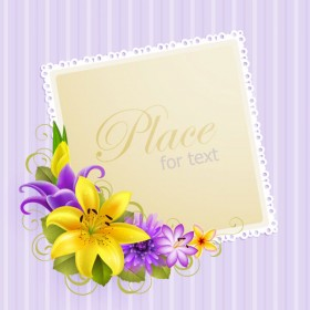 Flower greeting card 04 vector material