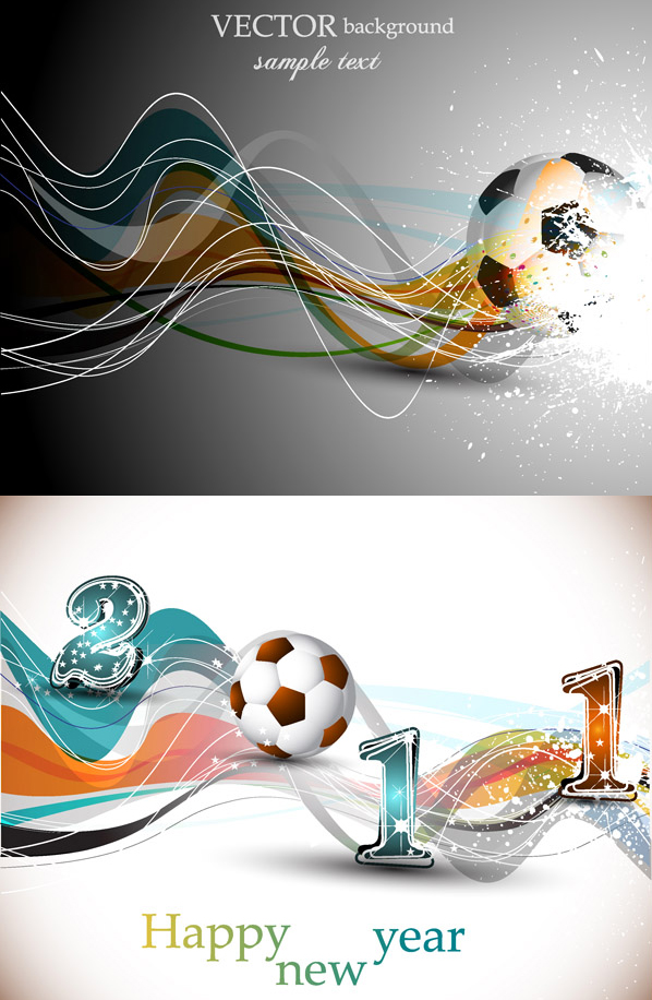 Football with dynamic lines vector material