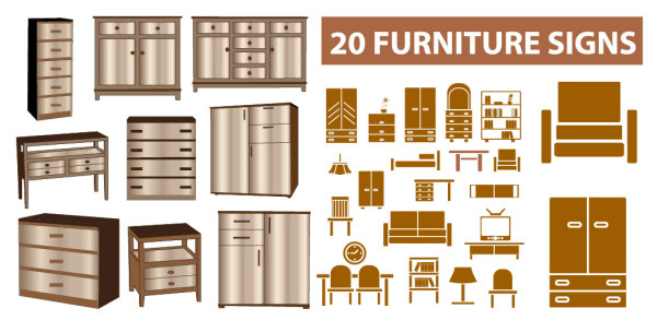 Home furniture vector material