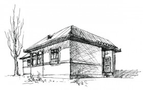 House sketch vector material  1