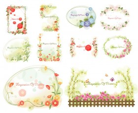 Korean style lace vector material series  4