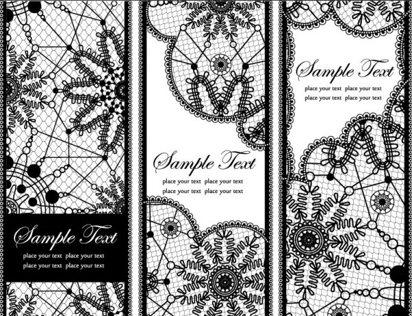 Lace pattern background 02 vector material
