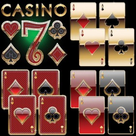 Luxury playing cards vector material