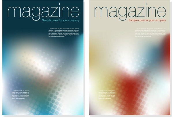 Magazine cover background vector material