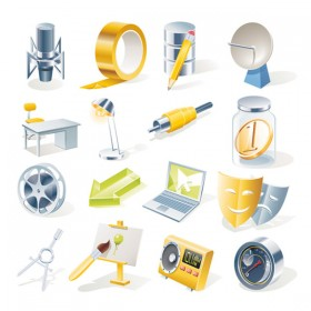 Office icon Vector material