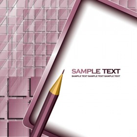 Pencil and background 01   vector material