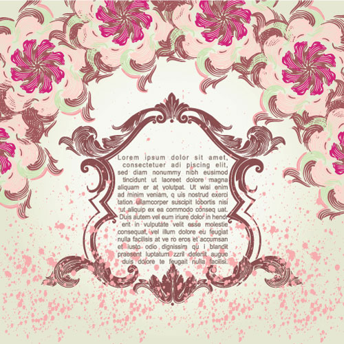 Pink pattern background pattern material 05 vector material