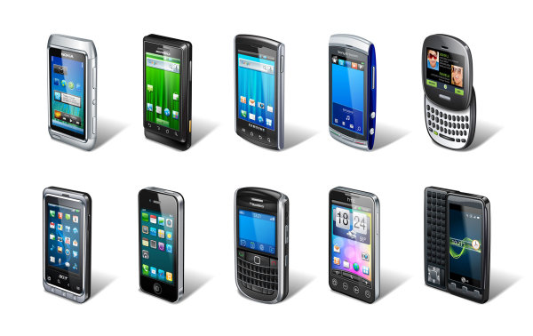 Range of smart phone vector material