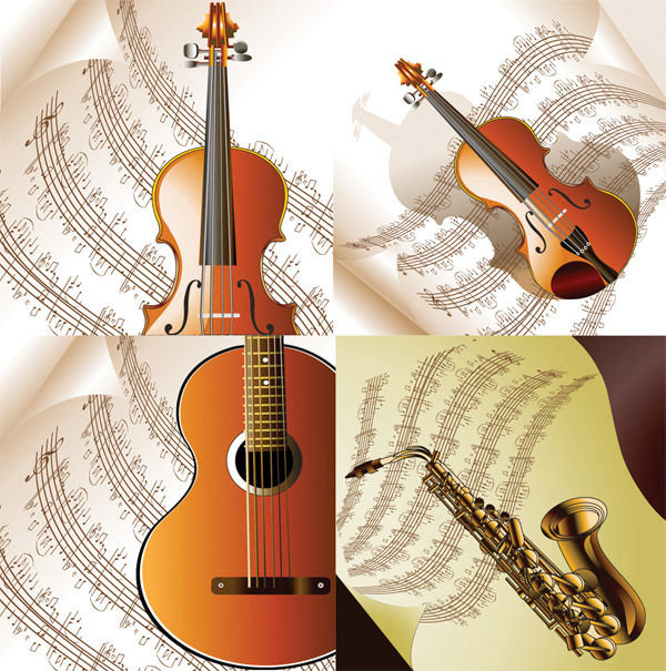 Read music and musical instruments vector material