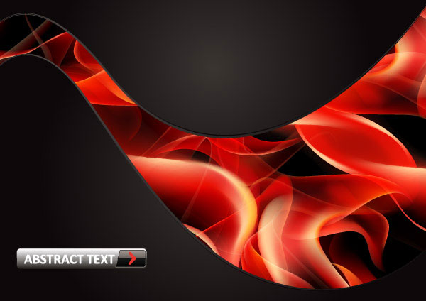 Red smoke flame vector material 8