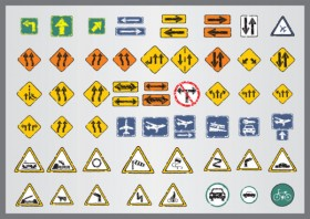 Shabby traffic signs icon vector material 02   Vector