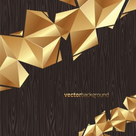 Shades of gold wood background Vector