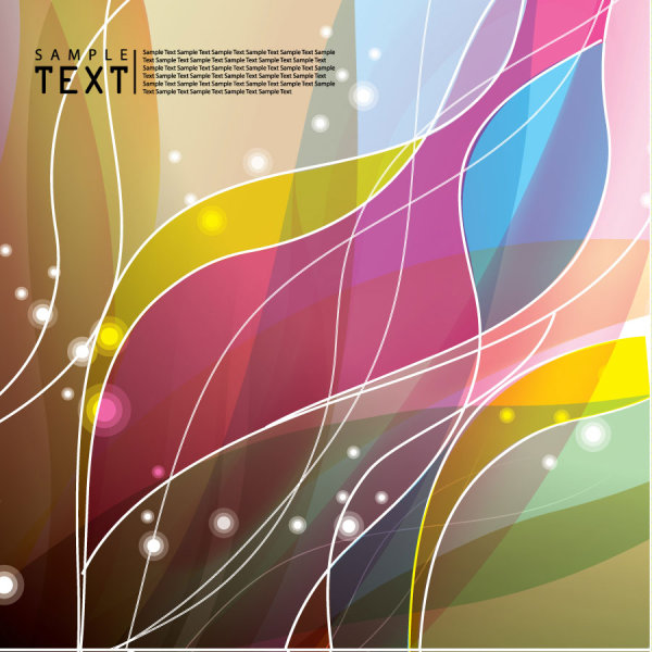 Special Hyun dynamic flow line background 01 vector material