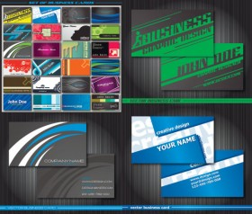 Special business card template vector material