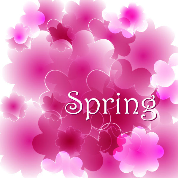 Spring background vector footage 3