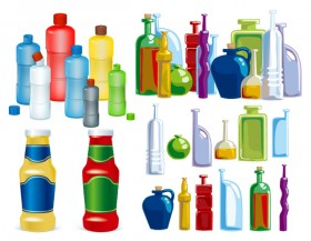 Style bottle vector material