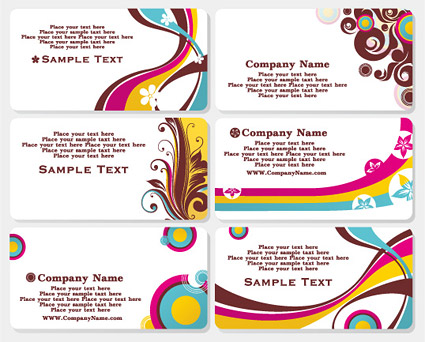 Stylish business card template vector material