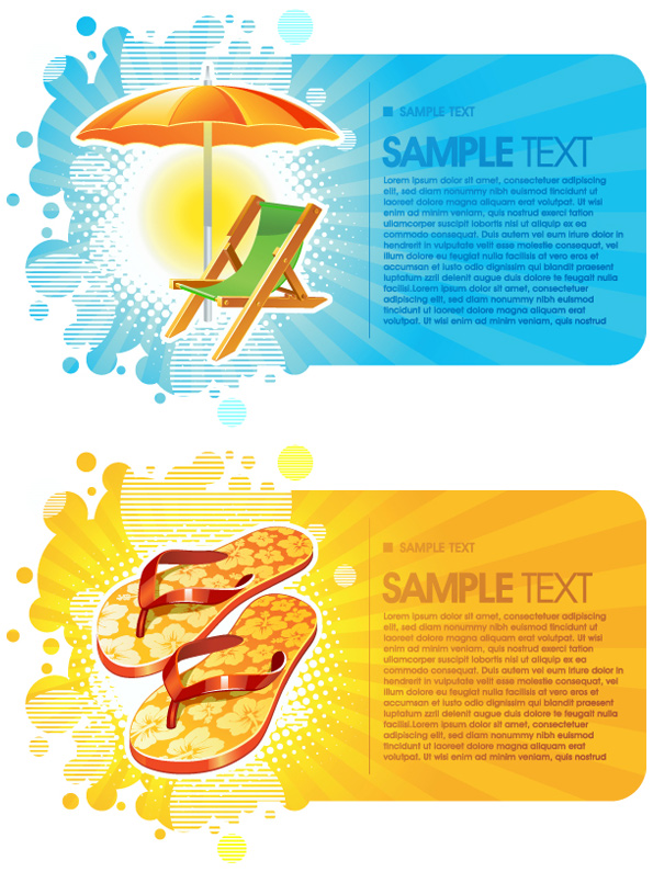 Summer trend card background Vector