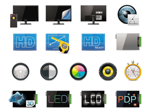 Technology icon 04   vector material
